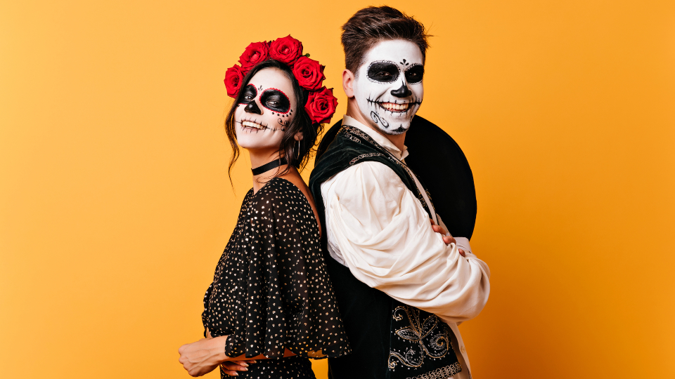 Couple on Day of the Dead