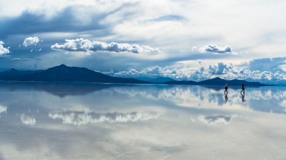 Salt flats in Uyuni, Bolivia