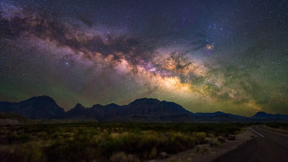 Look up into Space from Big Bend National Park