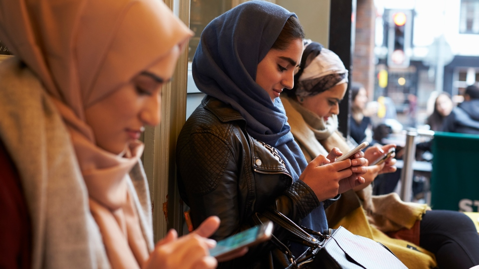 Muslim women planning their next trip